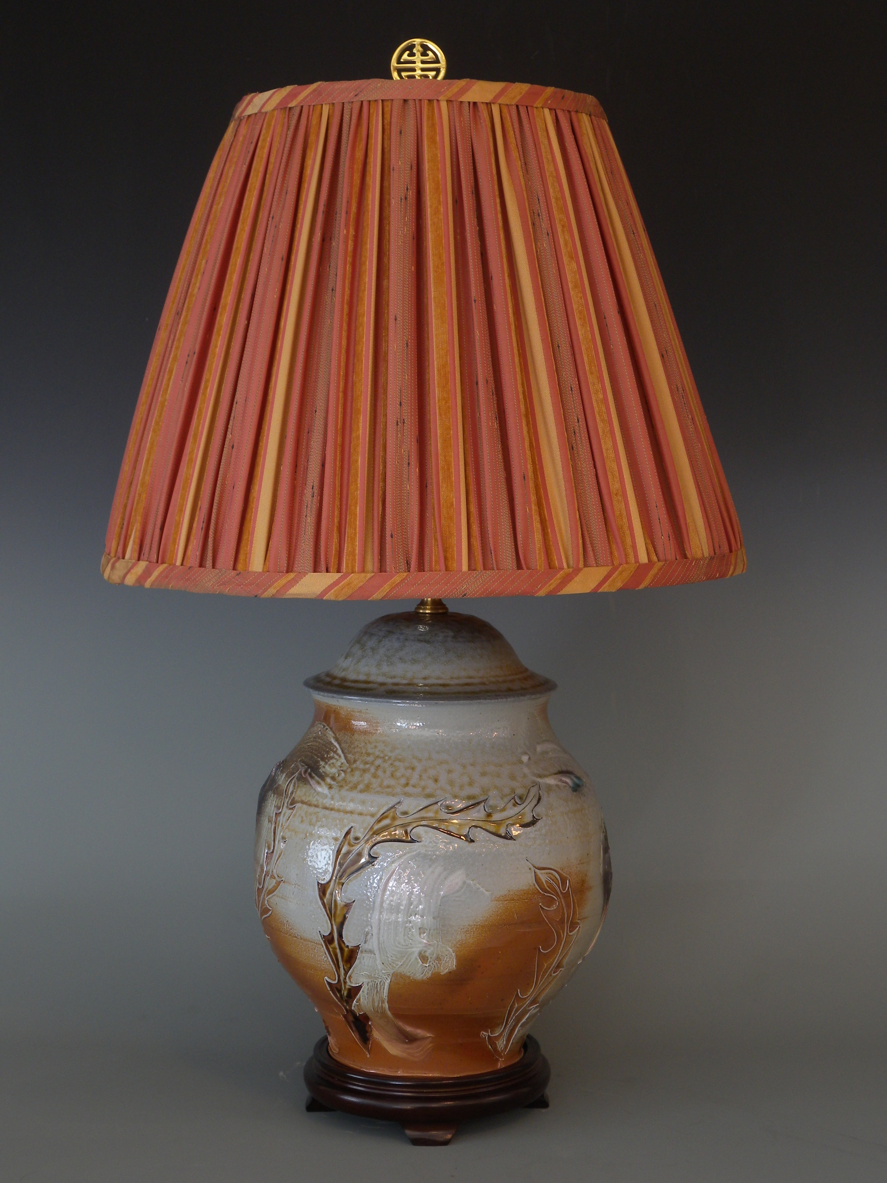 Anagama fired lamp